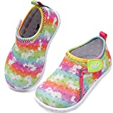 JIASUQI Outdoor Barefoot Beach Swimming Water Shoes Socks for Baby Boys Girls Pink Arrow 12-18 Months