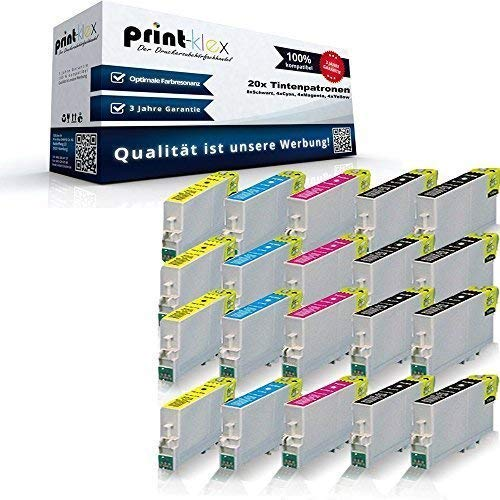 20x XL Tintenpatronen für Epson Stylus D120 D78 D92 DX4000 DX4050 DX4400 DX4450 DX5000 DX5050 DX5500 DX6000 DX6050 DX7000F DX7400 DX7450 DX8400 DX8450