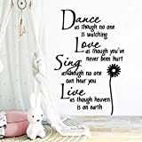 Danse créative amour chantant stickers muraux en direct personnalité bricolage...