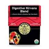 Organic Digestive Nirvana Blend Tea – 18 Bleach-Free Tea Bags – Caffeine-Free Tea with a...