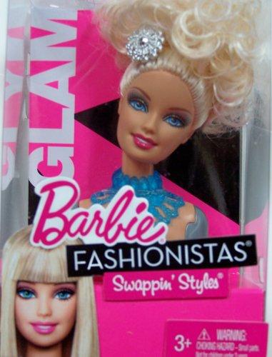 Barbie - V4392 - Accessoire - Poupée et Mini-Poupée - Barbie Fashionista - - Tete Amovible Mix & Style - Glam