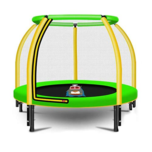 4 Ft Kids Trampoline w/Safety Enclosure Net, Spring Pad, Zipper, Heavy Duty Steel Frame, Mini Trampoline for Indoor/Outdoor, Supports up to 400 Pounds (Color : Green)
