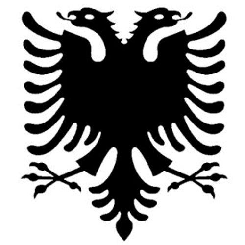 2x Auto Aufkleber Car Sticker Adler Albanien Albania Car Sticker