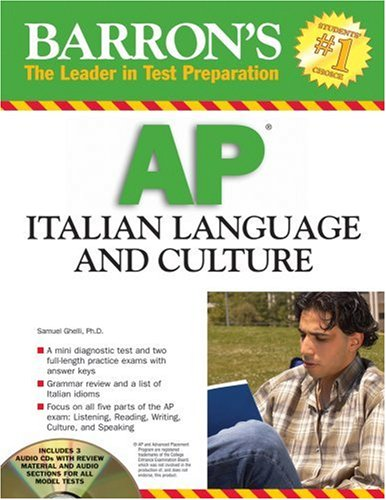 Barron's AP Italian Language and Culture: with Audio CDs (Barron's The...