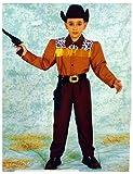 Nuova Rio Costume Vestito Abito Travestimento Carnevale Bambino Cow Boy - Sceriffo - Taglia 3/4 Anni