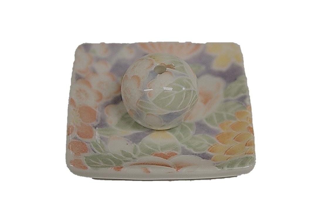 インク折る請求華友禅 小角皿 お香立て 陶器 製造 直売品