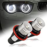 AXECO High Power LED Angel Eye Light Bulb Replacement for BMW 1/5/6/7 Series X3 X5 M5 M6 E39 E53 E60 E63 E64 E65 E66 E83 E87( Fit ONLY to Factory Equipped Xenon HID Headlight with Angel Eye Rings)