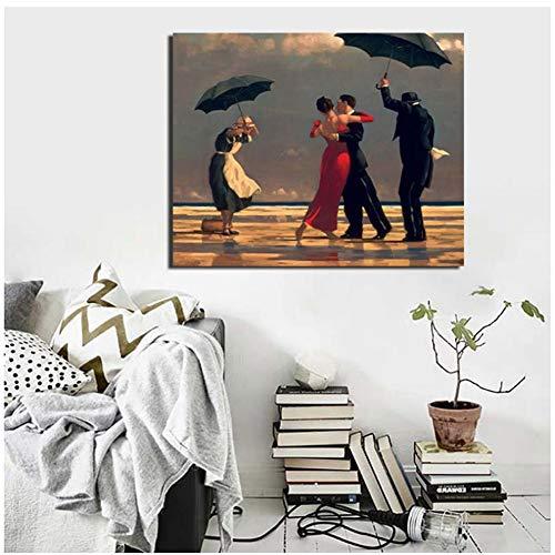 sjkkad Tanzen Edward Hopper Kunstwerk HD Wandkunst Leinwand Malerei Poster Drucke Moderne Malerei Wandbild Für Wohnzimmer Wohnkultur-60x75 cm Kein Rahmen