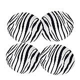 4 Unids Elegante Extraíble Taburete De Bar Cubierta De Repuesto Silla Redonda Cubierta De Asiento Protector De Escritorio Salón De Manga ~ Zebra Rayas