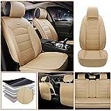 適合BMW・X1 軽普通車用 シートカバー レザー 防水 エプロンタイプ 前席 運転席 助手席 後部座席 5席 標準版—ベージュ