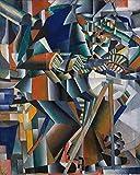 1art1 Kazimir Malévich - El Afilador de Cuchillos Principio de la Animación, 1913 Póster Impresión Artística (50 x 40cm)