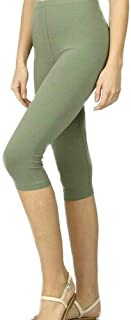 Zenana Premium Cotton Regular and Plus Size 15 INCH Capri Leggings