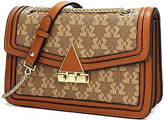 حقيبة نسائية من SAGA بقفل مثلث ذهبي