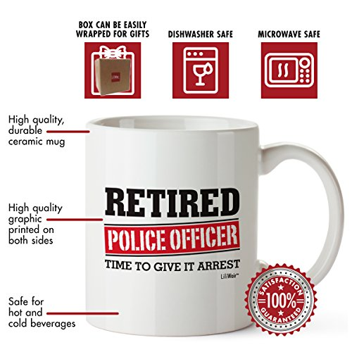 Product Image 9: Retired Police Officer Gifts Mug Funny Christmas Retiring Retirement Gag Gifts for Women Men Dad Mom Retirement Coffee Mug Gift. Retired Mugs for Coworkers Office & Family. Unique Ideas for Her & Him