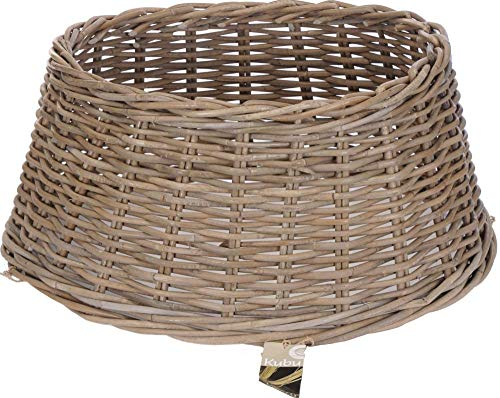 Classic Rustic Wicker Willow Christmas Xmas Tree Skirt Stand Cover Tidy