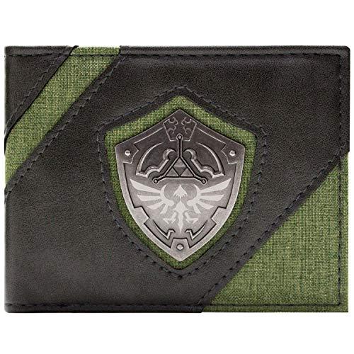 Link's Awakening Zelda Métallique Hyrule Bouclier Portefeuille Vert