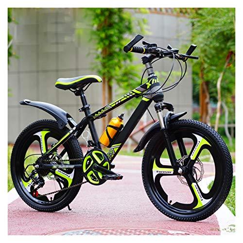 Boys Mountain Bikes, Bambini Bici 20 22 Ruote Da 24 Pollici 21-velocità Smorzamento Variabile Mountain Bicycle Per 6-15 Anni, Ragazzi Ragazze Regali Di Compleanno ( Color : Yellow , Size : 20 inches )