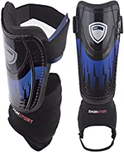 DashSport Soccer Shin Guards -Youth Sizes Best Kids Soccer Equipment with Ankle Sleeves - Great for Boys and Girls