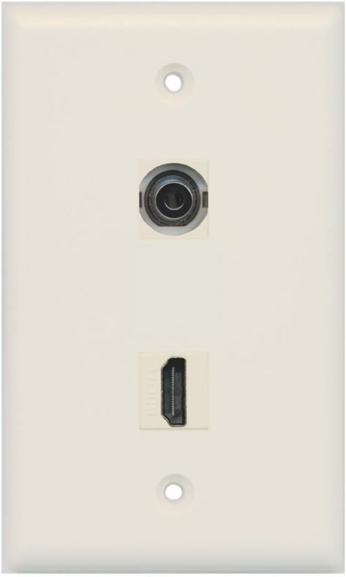 RiteAV - 1 Ultra-Cheap Deals 3.5mm Audio Headphone Wall HDMI Plate Port Jack New life and