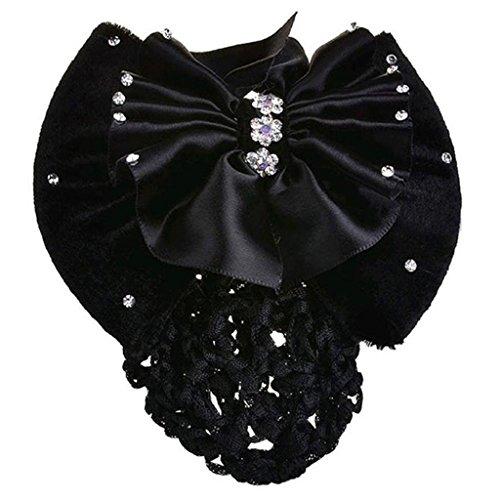 Femme Nœud Barrette Pince à Cheveux Motif nœud Chignon Snood résille accessoire pour cheveux
