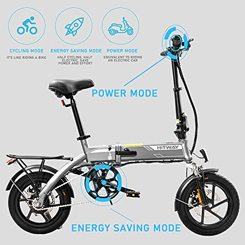 HITWAY Electric Bike, E Bike City bikes Folding Bike Bicycle Made of Aerospace Aluminum, 7.5Ah Battery, 250 W Motor, Range Up to 45 km BK3-HW