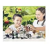 20 Figuras de Animales en Peligro de extinción de plástico Pintados a Mano. Colección 20 Juegos de Animales . Incluye ficha técnica con Las características de Cada Animal