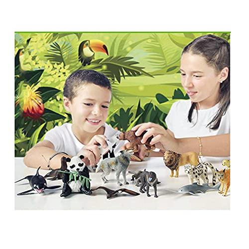 20 Figuras de Animales en Peligro de extinción de plástico Pintados a Mano. Colección 20 Juegos...