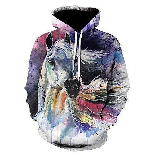 binglinshang 2019 Paard Vlecht 3D Print Sweatshirts Mannen Hoodies Tracksuit Pullover Herfst Winter Hoody Hooded Coat