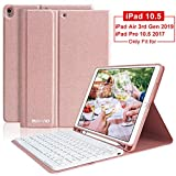 iPad Pro 10.5 Keyboard Case with Pencil Holder for iPad Air 3 2019/iPad Pro 10.5 2017,iPad Air 3 Case with Detachable Bluetooth Keyboard,iPad Pro 10.5 Keyboard for iPad Air 3 2019/iPad Pro 10.5 2017