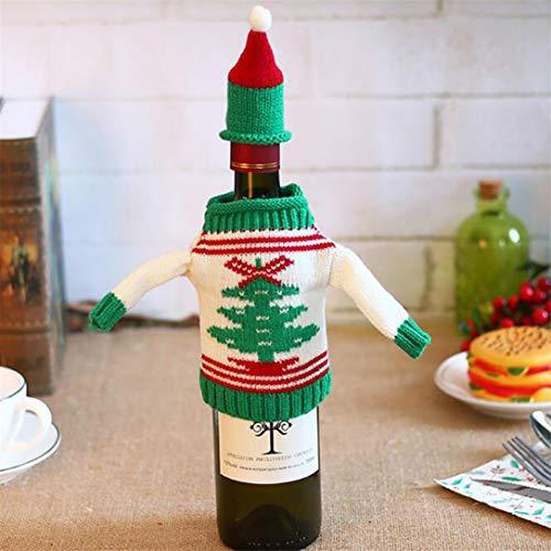 GHJUU - Funda para botella de vino, diseño de árbol