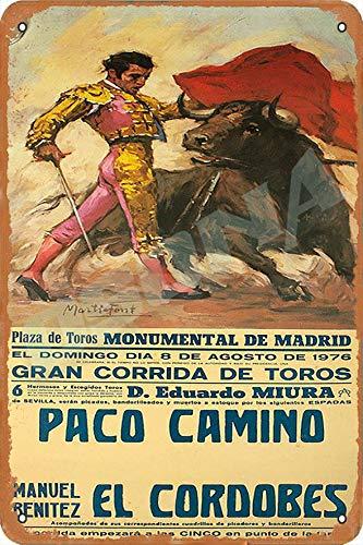 OSONA Plaza De Toros Monumental De Madrid Retro nostálgico arte tradicional color óxido logotipo de lata publicidad llamativa decoración de la pared regalo
