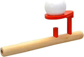 STOBOK Classic Wooden Games Floating Blow Pipe Balls Balance Blowing Toys Fun Stress Reliever for Kids Children Toddler