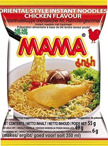 MAMA Instantnudeln mit Hühnerfleischgeschmack – Instantnudelsuppe orientalischer Art – Authentisch thailändisch kochen – 24 x 55 g