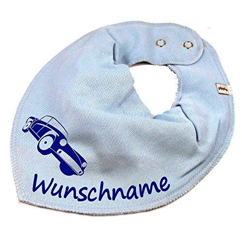 Elefantasie Elefantasie HALSTUCH Auto mit Namen oder Text personalisiert hellblau für Baby oder Kind