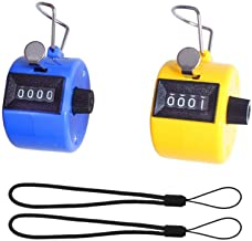 Wofeida Handheld Tally Counter/ Mechanical Palm Manual Number Clicker with Finger Ring,4-Digital, Disc Golf/Baseball Pitch /Bus Driver/Fish/Crochet Row Count(2 Pack)