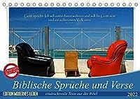 Biblische Sprueche und Verse (Tischkalender 2022 DIN A5 quer): Eindrucksvolle Texte aus der Bibel ergaenzen die praechtigen Fotografien, von Fotograf HC Bittermann. (Monatskalender, 14 Seiten )