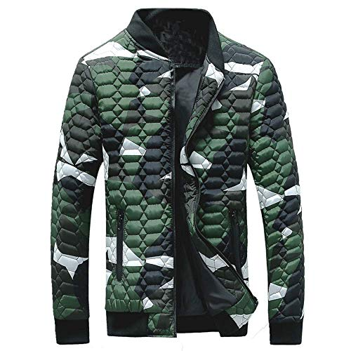 Uhdfjsjd Men's Coat Winter Camouflage Thickening Pullover Shirt Top Blouse(,)