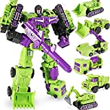 WJ Deformation GT Engineering Devastator Truck Green KO Combiner 6 in 1 Alloy Metal Action Figure Robot Model Toys