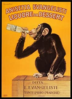 Anisetta Evangelisti Liquore Da Dessert by Carlo Biscaretti. Vintage Advertising Reproduction Poster (24 x 34)