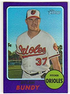 2017 Topps Heritage High Numbers Chrome Hot Box Refractor #THC-713 Dylan Bundy NM-MT Orioles