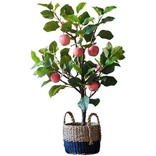 BOWCORE Artificial Manzano 150cm Falsa Cubierta de la simulación Artificial del Manzano Bonsai decoración del árbol frutal de árbol en Maceta de Estar Decoración de la Habitación (Size : 100cm)