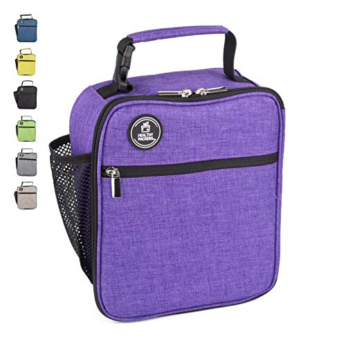 Insulated Lunch Box for School Kids -Spacious and Heavy Duty School Lunchbox for Boys and Girls -Professional Work Lunch Bag for Adult Men and Women (Purple)