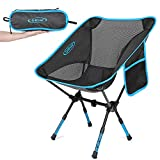 G4Free Upgraded Height Adjustable Camping Chairs, Portable Ultralight Folding Backpacking Chair Heavy Duty for Outdoor, Hiking, Picnic, BBQ with Carry Bag (Blue)