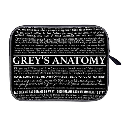 Greys Anatomy Quotations Laptop Sleeve 13inch, Snowflake Cloth Business Briefcase Protective Bag, Computer Case Cover for Ultrabook, MacBook Pro, MacBook Air, Asus, Samsung, Sony, Notebook