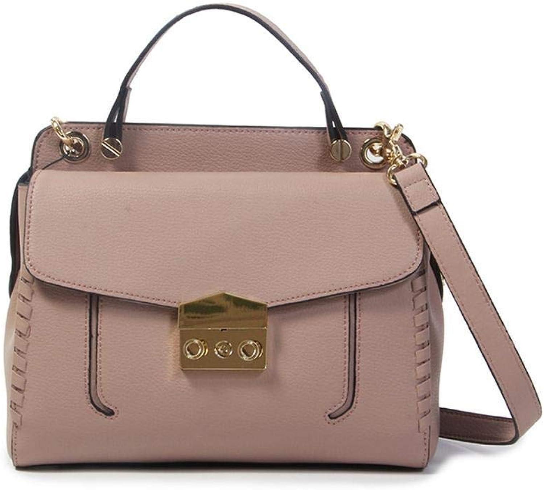 Ladies Handbag Leather Female Bao Oblique Cross Cowhide Small Square Bag Fashion Handbag (color   F)
