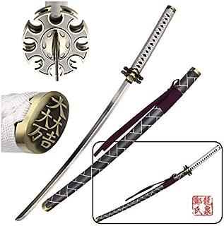 Sengoku Basara Game Sword Replica Ishida Mitsunari Katana Steel Blade Cosplay Props No Sharp