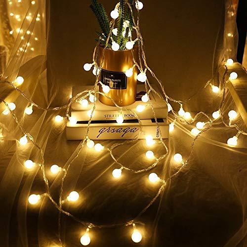 Cuento de hadas garland LED bola de luz de cadena impermeable al aire libre bombilla LED luz fiesta / Navidad / jardín cadena de luz batería 3m30 leds