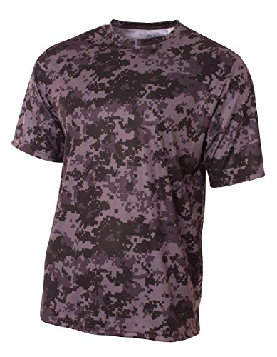 A4 Youth Camo Performance Tee, Graphite, Large
