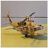 Lllunimon 1/33 U.S.S. Black Hawk UH-60 Modelo de helicóptero Kit de construcción, DIY Modelo de Papel 3D Papel Set Hecho a Mano Juguete Regalo Militar