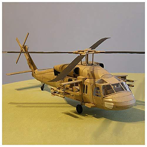 Lllunimon 1/33 U.S. Black Hawk UH-60 Helicopter Model Building Kit, DIY 3D Paper Model Building Set Handmade Toy Military Gift
